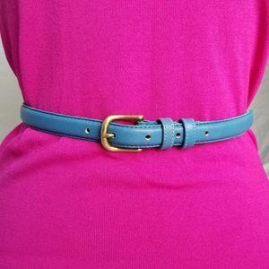 Accessories - Genuine glove leather belt with brass buckle.